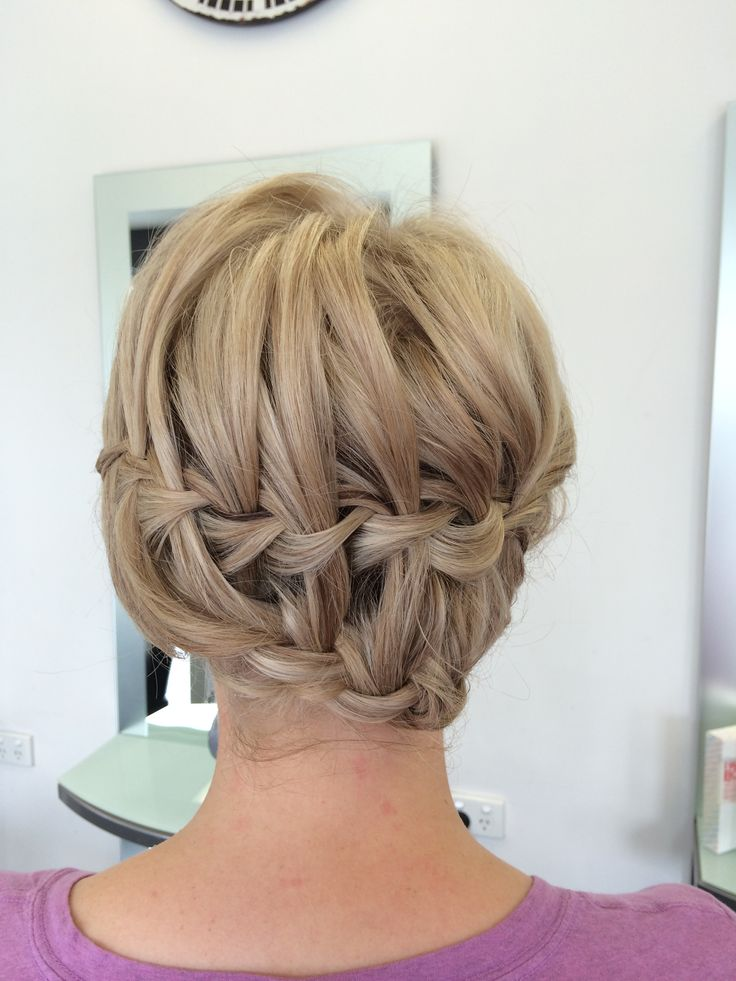 Double waterfall braid tucked in