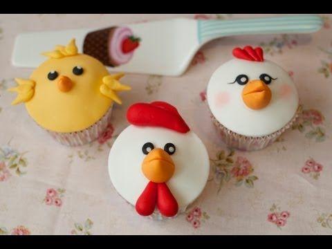 Cupcakes Animales de la Granja (I) | Decoración de Cupcakes por Azúcar con Amor - YouTube