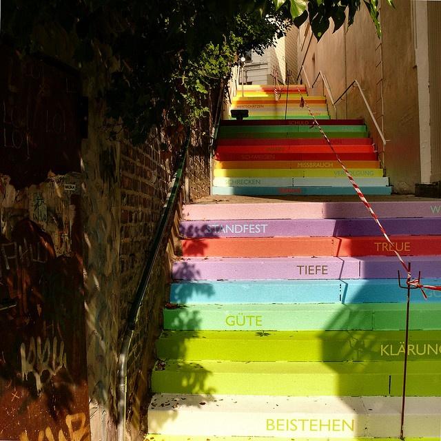 beautiful painted stairway in Germany