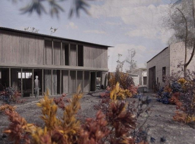 ATELIER AMONT - ITTER, DÜSSELDORF, GERMANY Atelier and Residence for an Artist and Stone Mason, 2011 Competition, in cooperation with Annika Staudt