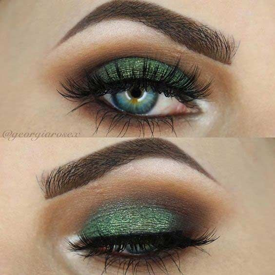 Emerald Smokey Eye for Christmas