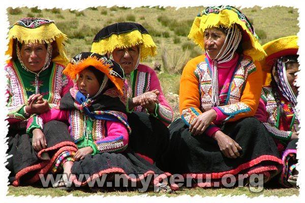 Traditional Quechua Clothing - Checaspampa Community, Tinqui, Ausangate, Peru
