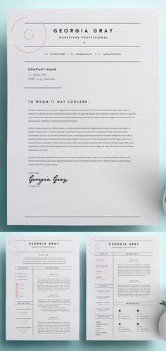 Resume Template 3 Page | CV Template