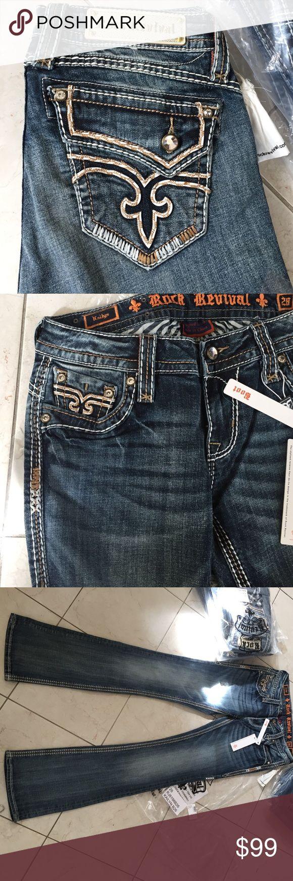Rock revival women jeans kailyn boot cut Inseam 34,rise 9 Rock Revival Jeans Boot Cut