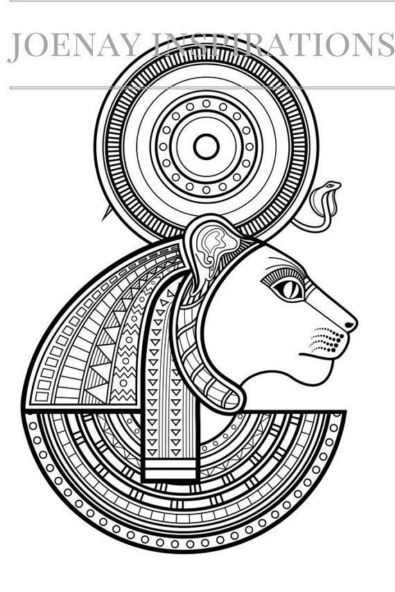 Egyptian Mask Coloring Pages Sketch Coloring Page