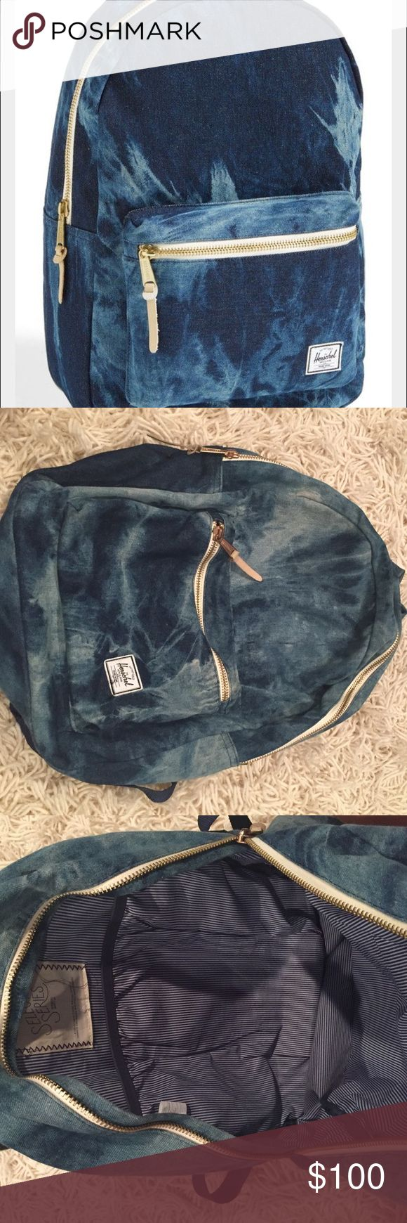 Herschel Tie Dye Blue Backpack Used a few times! No sign of wear! In awesome condition! super hard to find!! Don't make anymore Herschel Supply Company Bags Backpacks