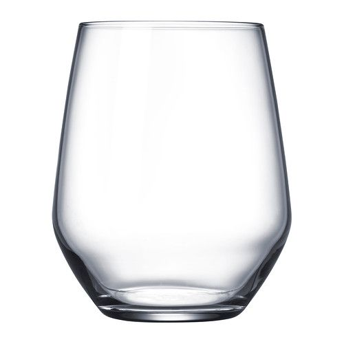 IKEA - IVRIG, Glass, The glass has a large round bowl which allows you to also use it as a stemless red wine glass, as the shape helps the aromas and flavors of the wine to develop better.