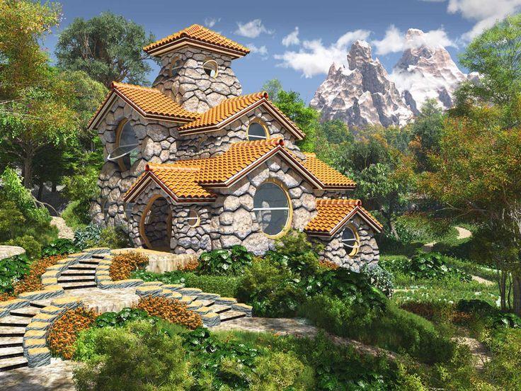 3d beaded Fairy Houses  | fairytale-house by MERR