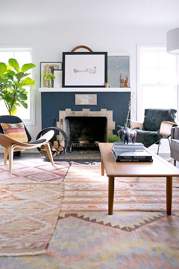 19 living rooms that show Kilim rugs are a very good idea - Comfortable home
