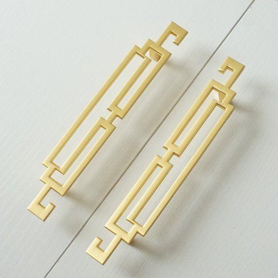 2 5 3 75 5 Gold Drawer Pull Handle Door Etsy Gold Dresser