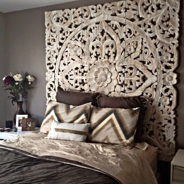 Zgallerie - Sanctuary Panel as a headboard to make this bedroom a sanctuary. #Padgram