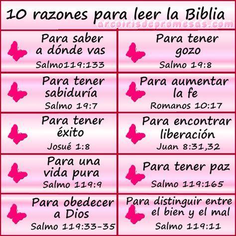 Arcoiris de Promesas: 10 razones para leer la Biblia... lee la descrpción de este pin en este enlace: http://www.arcoirisdepromesas.com/2015/04/10-razones-para-leer-la-biblia.html