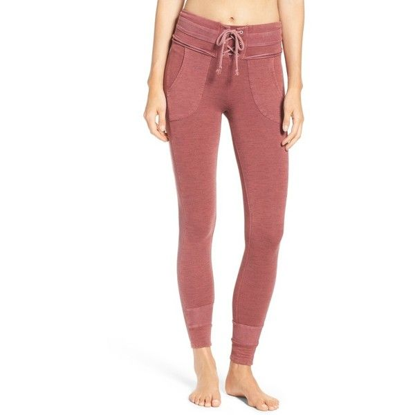 Women's Free People Fp Movement Bodhi Leggings ($128) ❤ liked on Polyvore featuring pants, leggings, red pants, legging pants, free people pants, red trousers and free people leggings