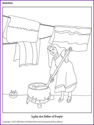 Lydia Seller Of Purple Coloring Pages