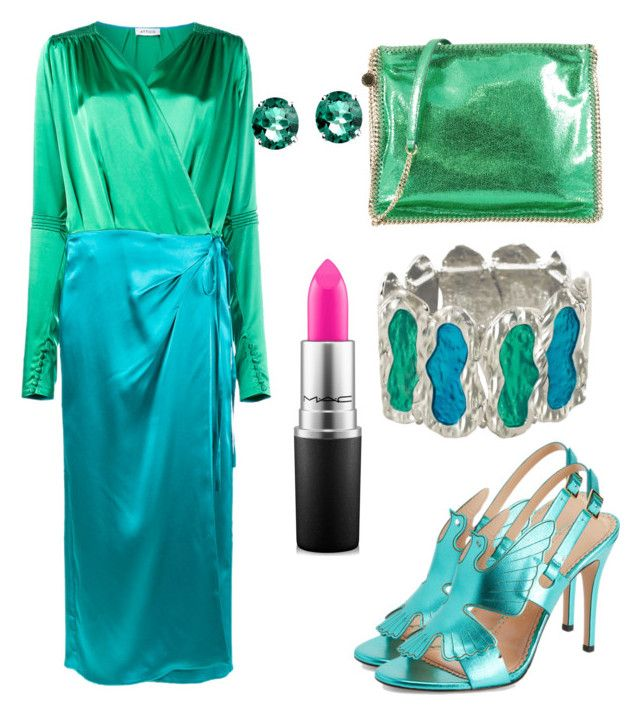 Untitled #696 by cathatin on Polyvore featuring polyvore, fashion, style, Attico, STELLA McCARTNEY, Glitzy Rocks, MAC Cosmetics and clothing