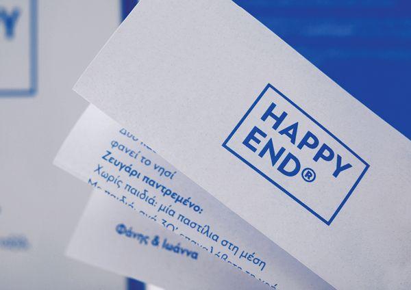 Happy End® // Wedding Invitation by Chris Trivizas, via Behance