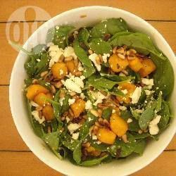 Recipe Picture:Baby Spinach, Roasted Pumpkin, Feta and Pinenut Salad