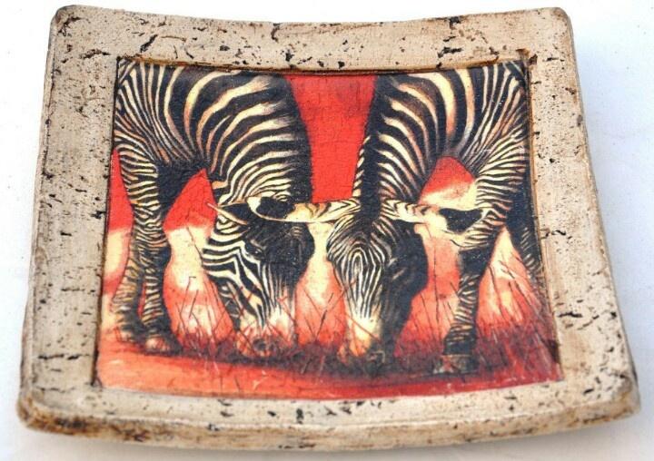 Plato de pasta piedra africano