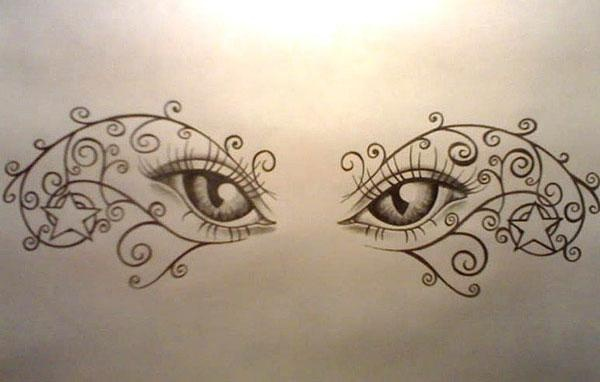 Eyes stars vines code name ink pinterest tattoo for Fake name tattoos