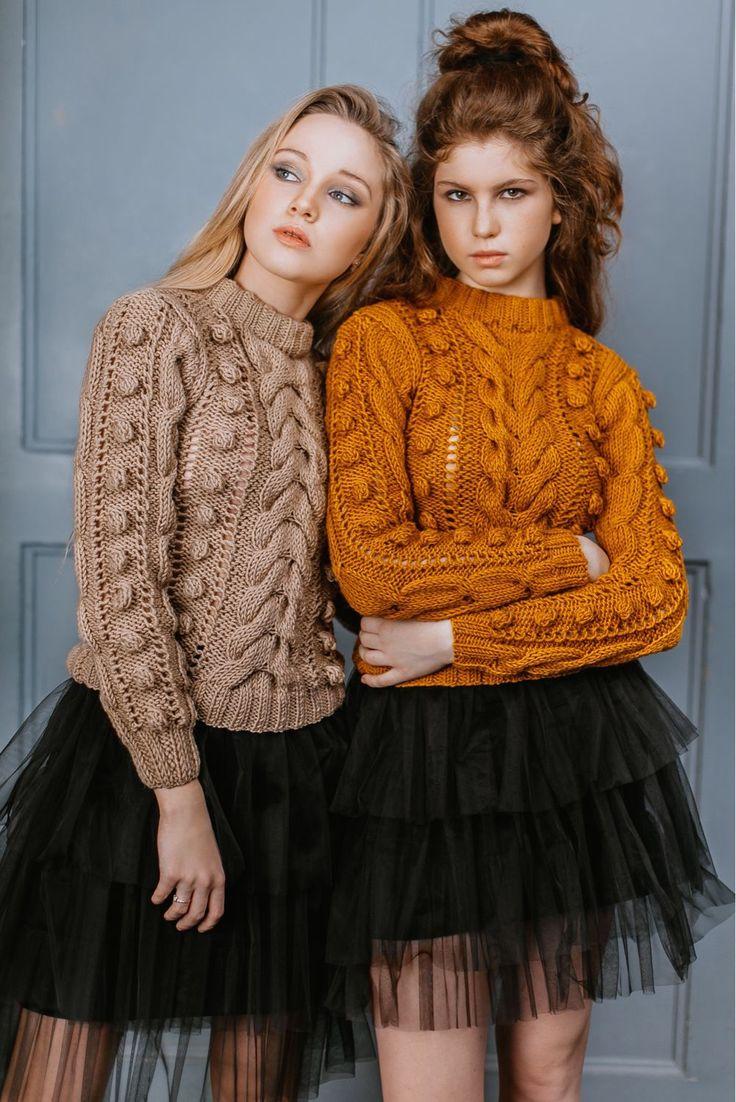 "Knitted Sweater | Свитер "" С шишками"" в интернет магазине на Ярмарке Мастеров"