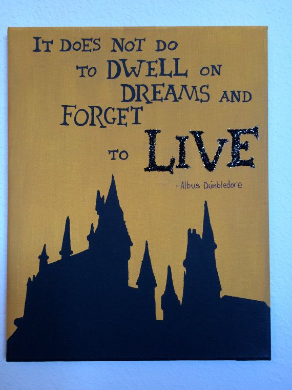 Harry Potter Quote Canvas by KansasKanvas on Etsy: