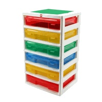 Lego Storage. These are 12x12 paper storage containers you can buy them for about 5 bucks when they are on sale and stack them on your own shelf.
