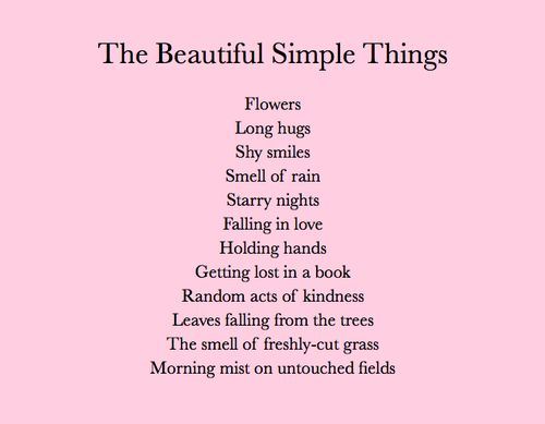 simple things make me happy quotes
