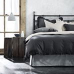 Maison Ruffle Charcoal Queen bed quilt cover..aura home.