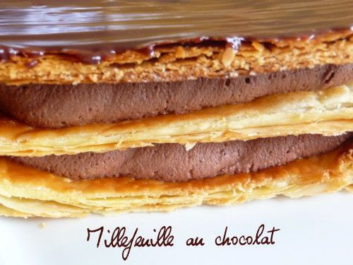 Millefeuille au chocolat