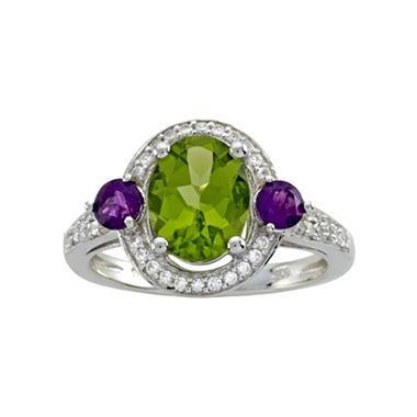 peridot sterling silver ring jcpenney peridot wishes