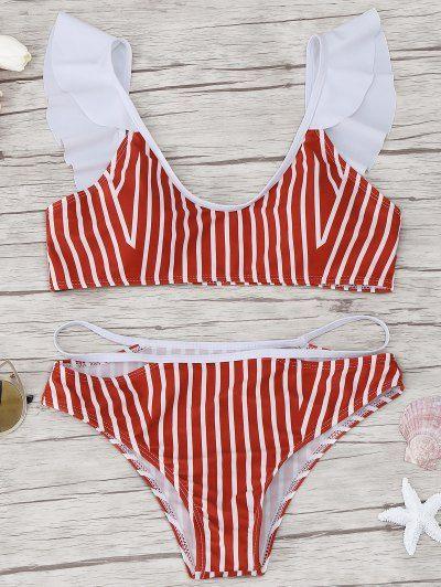 OBTÉN $50 AHORA | Únete a Zaful: Obtén tus $50 AHORA!http://es-m.zaful.com/frilled-striped-bikini-set-p_305869.html?seid=hriqmlld2rhhnku6gk8lvfu2c0zf305869