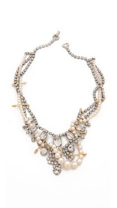 crystal tangled necklace  tom binns