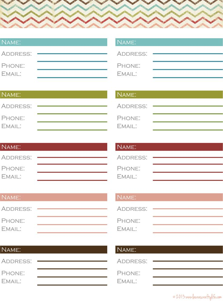 20 best Calendars and planners images on Pinterest Planners - phone list templates