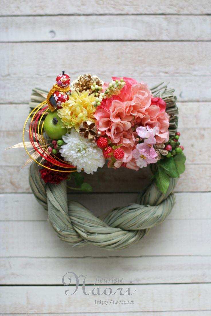 Japanese New Year wreath 2014 お正月 しめ縄リース2014