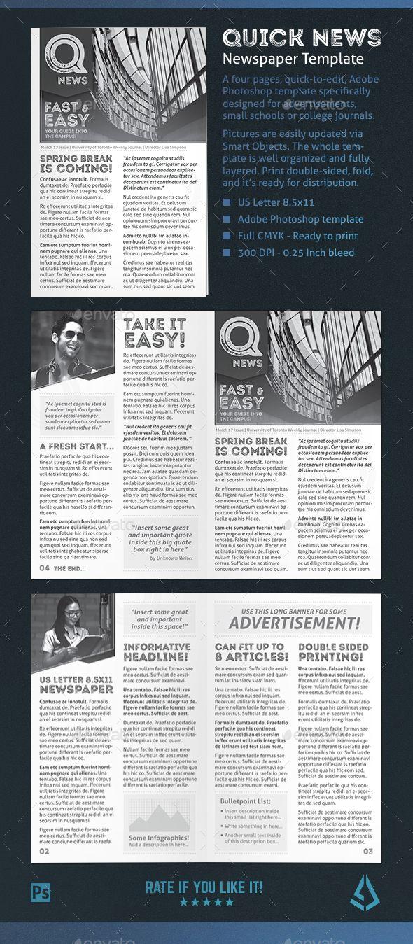 newspaper newsletter template