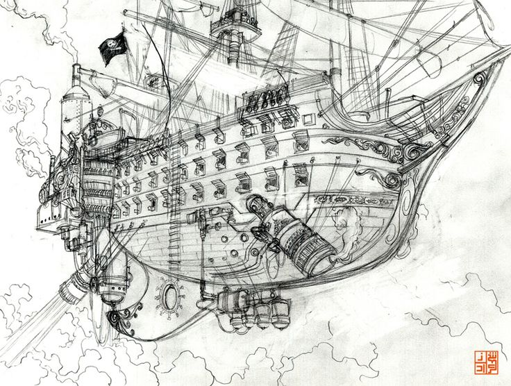 Pirate ship rough by ~Nocturnal-Devil