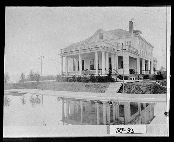 Photograph of a view of the facilities at the Highland Country Club, LaGrange, Troup County, Ga., 1930. DID YOU KNOW? Greek Revival Houses  of Troup County are 2014 Places in Peril.