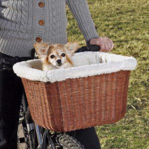 Tagalong Wicker Bicycle Basket. Oh. My. God. Dying of cuteness.
