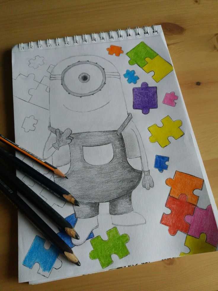 #mimions #puzzle #drawing #in 13y.o #likeforlike