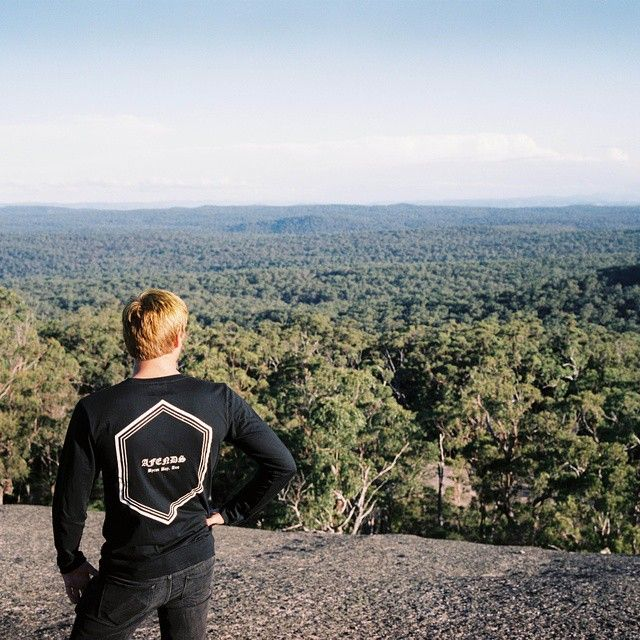Come with us. @solventbasket enjoying the serenity at Bald Rock @ham_molan on the lens #afends