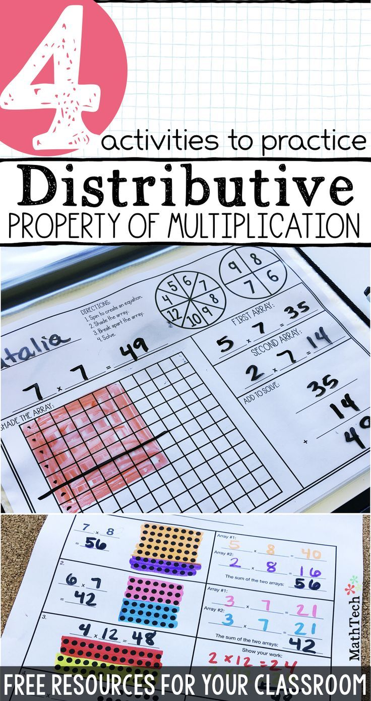 Review The Distributive Property Of Multiplication With These Free R Distributive Property Of Multiplication Distributive Property Properties Of Multiplication [ 1390 x 736 Pixel ]