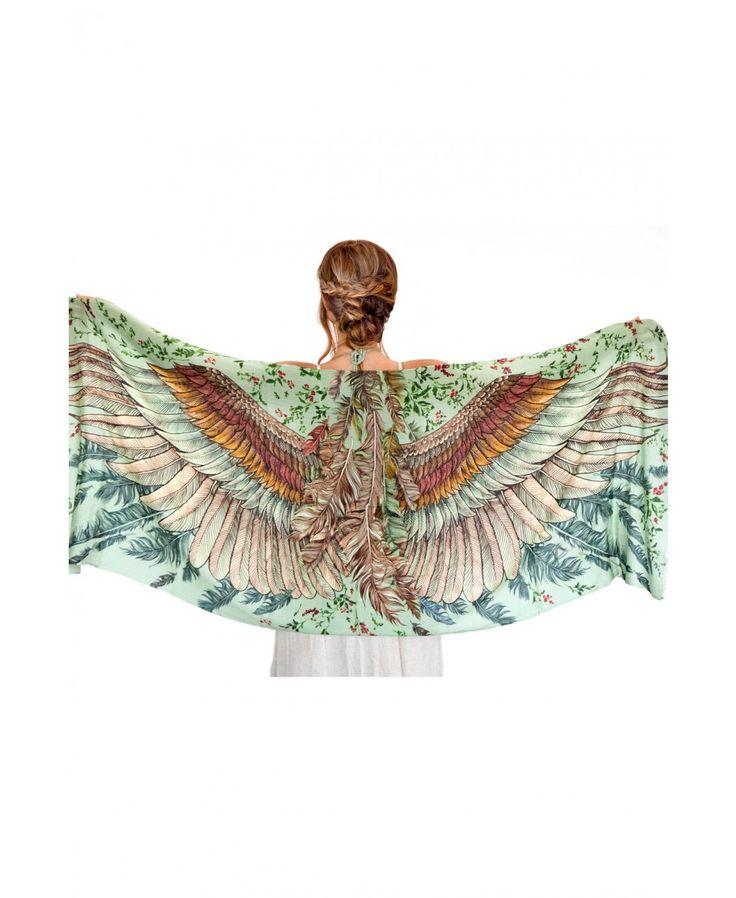 51 best Handpainted Scarves images on Pinterest   Amazing ...