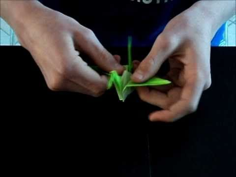 ▶ Origami Kraanvogel Vouwen\ Origami How To Fold Crane - YouTube