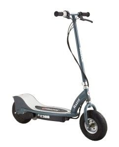 Razor Scooters: Razor E300 Electric Scooter (MBoasting a high-torque, ultra-quiet chain-driven motor, and a handy twist-grip throttle.  Features a hand operated rear brake, spring loaded kickstand, and extra wide 10-inch pneumatic tires for a smooth ride.  matte Gray, 41 x 17 x 42-Inch) http://awsomegadgetsandtoysforgirlsandboys.com/razor-scooters/ Razor Scooters: Razor E300 Electric Scooter (Matte Gray, 41 x 17 x 42-Inch)