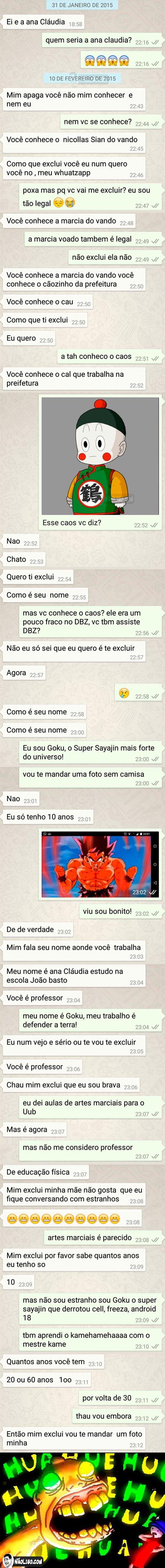 Conversa estranha no WhatsApp