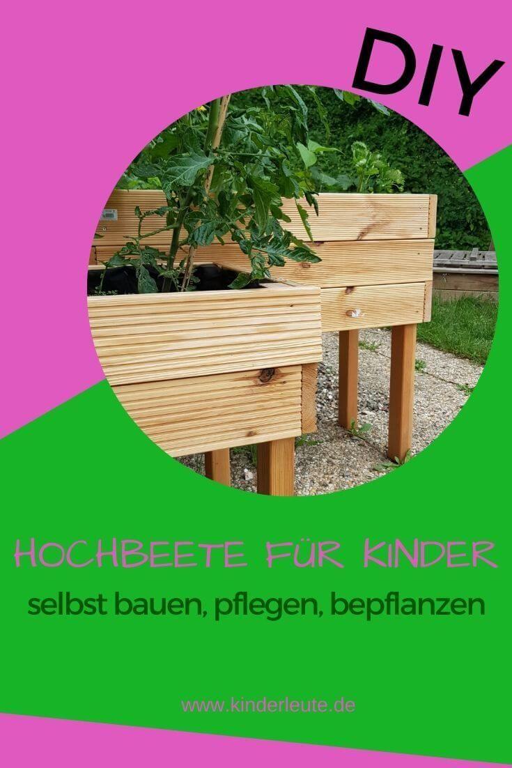 Zum Nachmachen Ein Diy Hochbeet Fr Kinder In 5 Minuten Gebaut In 2020 Hochbeet Diy Hochbeet Garten