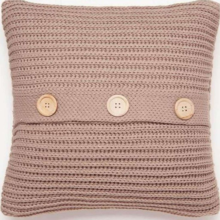 Chunky Knit Natural Cushion Cover | Dunelm