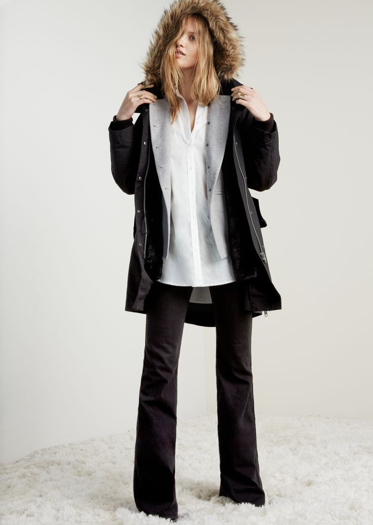 Madewell Side Zip Field Parka Worn With The Cadet Blazer