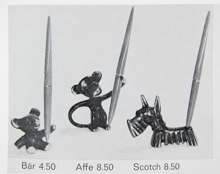 Walter Bosse Pen Holder Original Catalog Page