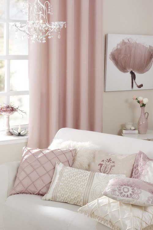 so pretty! more like muted mauve with cream and pale taupe than pink and gray